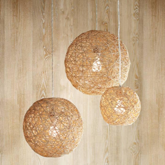 Hemp Twine Ball Lamp by Handimania