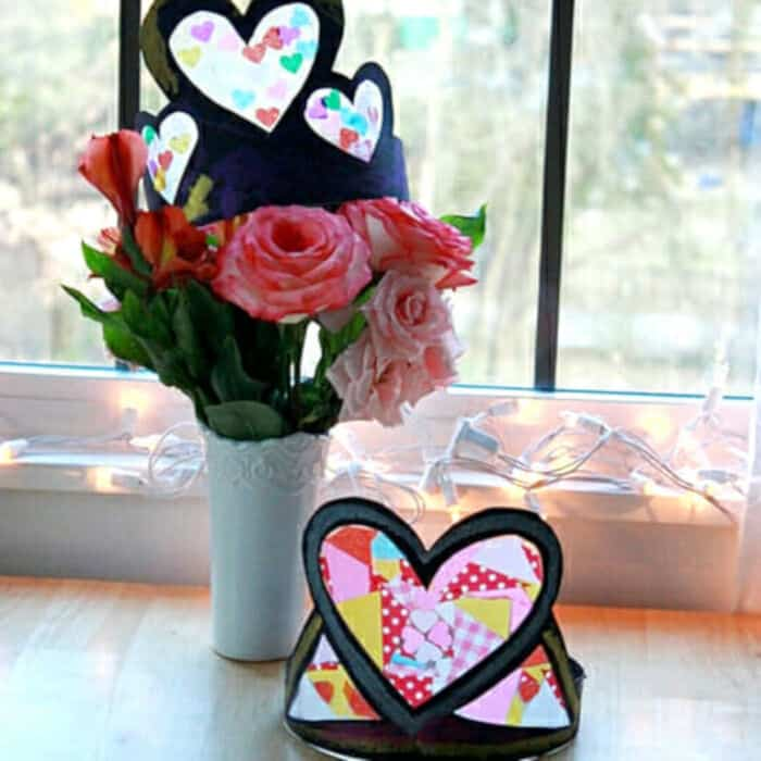 How To Make DIY Heart Crowns for Valentines Day by Artful Parent