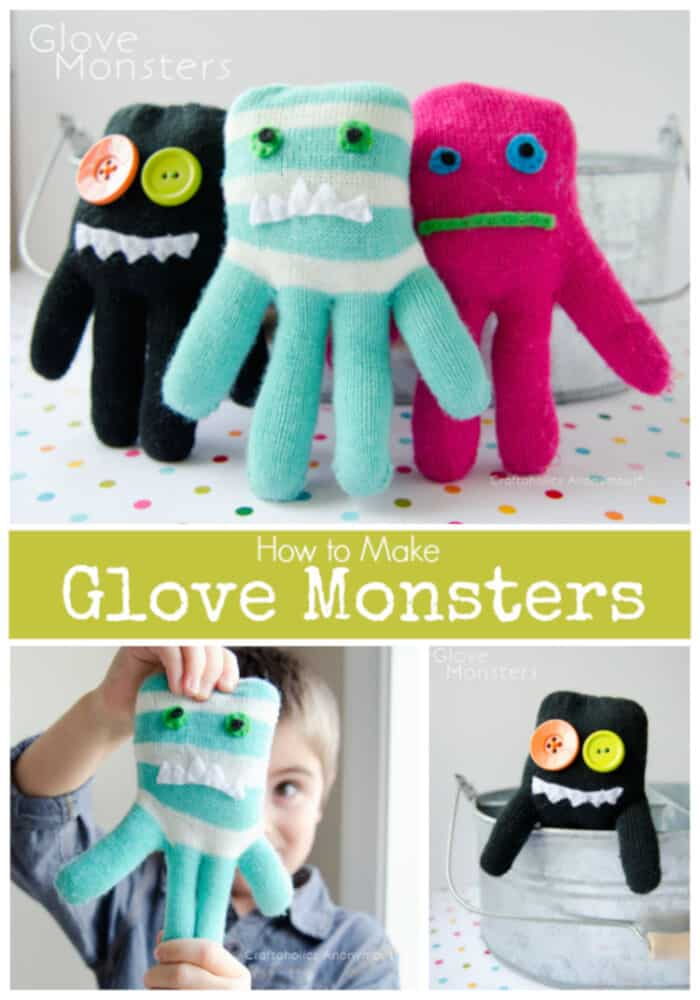 How To Make Glove Monsters by Craftaholics Anonymous