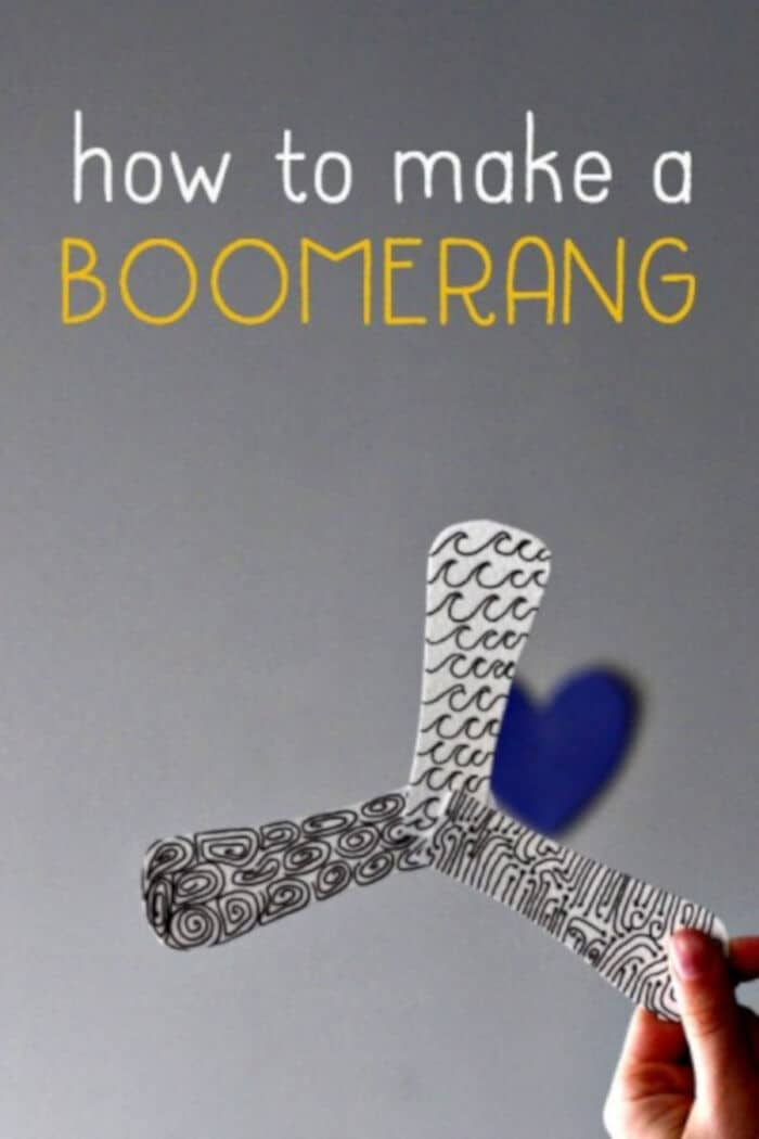 How to Make an Indoor Boomerang by What Do We Do All Day