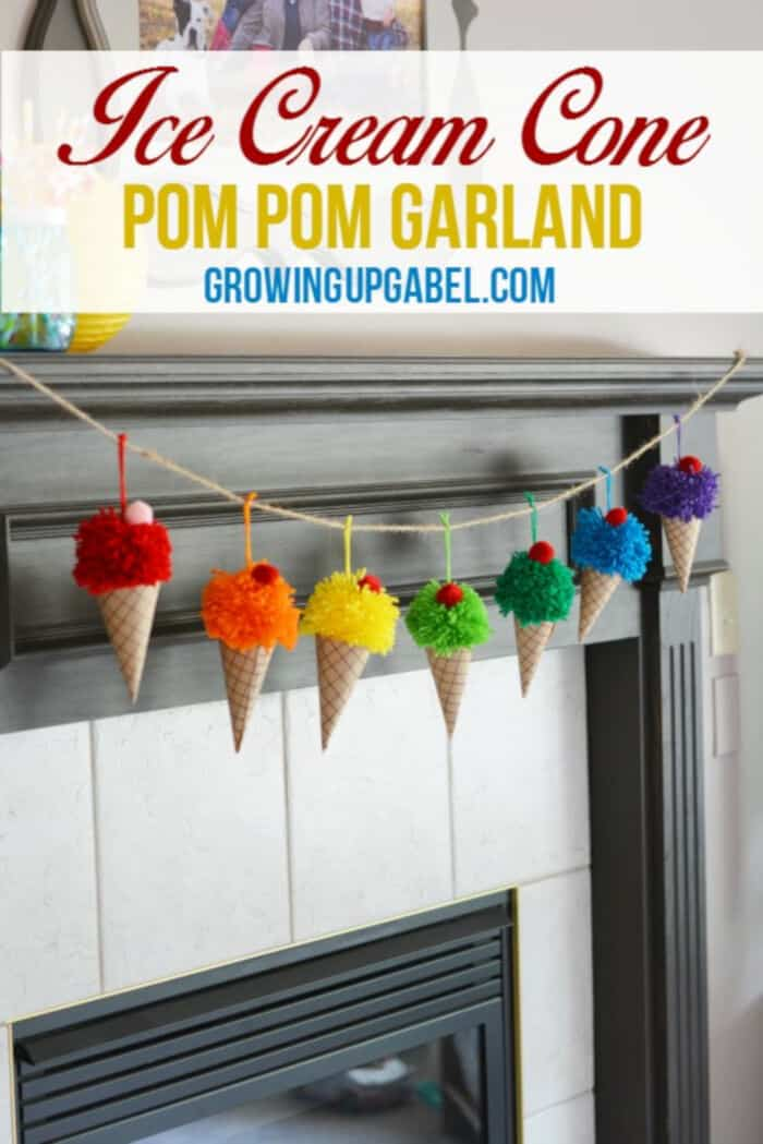 Ice Cream Cone Garland by Growing Up Gabel
