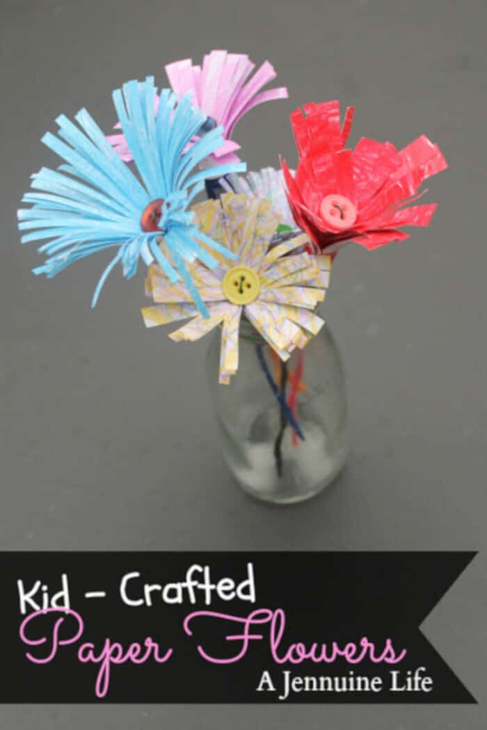 Kid Crafted Paper Flowers by The Girl Creative
