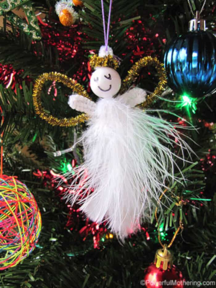 Kid made AND easy Christmas ornaments by Powerful Mothering
