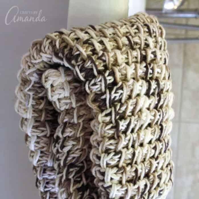 Knit Bath Mat by Crafts by Amanda