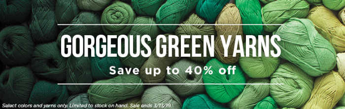 Knit Picks Green Yarn Sale