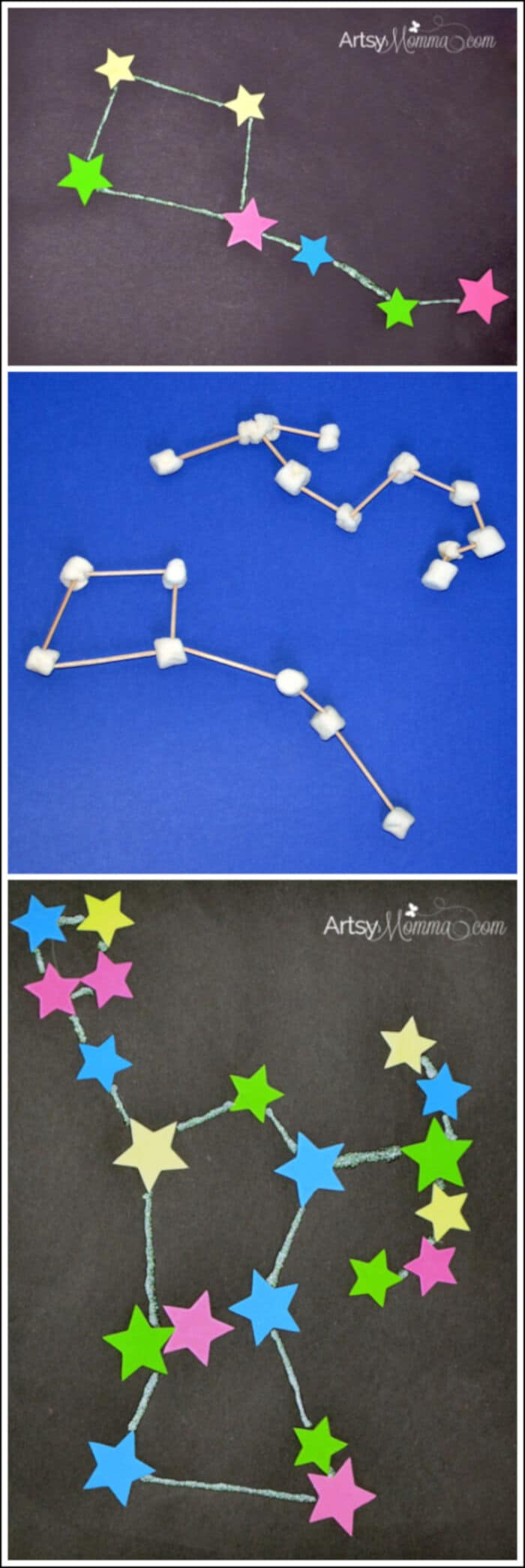 Learning About Constellations Crafts and Activities by Artsy Momma