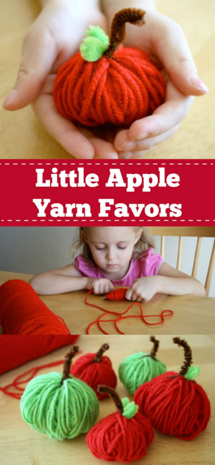 Little Apple Yarn Favors by Make and Takes