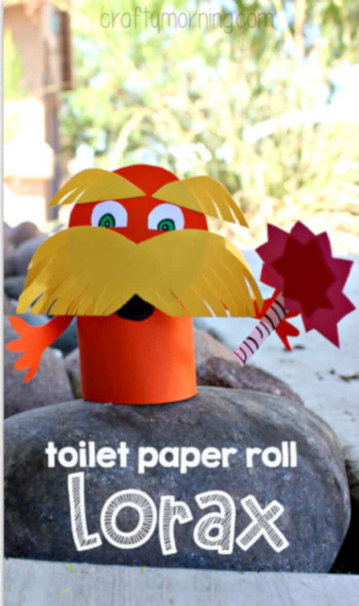 Lorax Toilet Paper Roll Craft For Kids by Crafty Morning