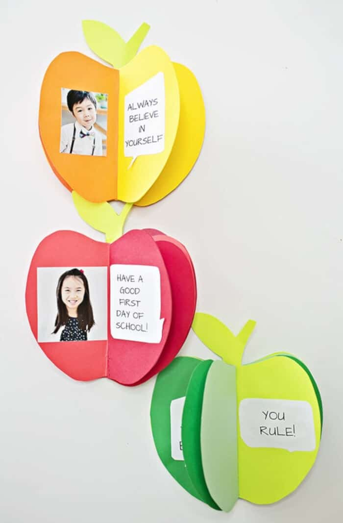 Make a 3D Paper Apple Book Craft by Hello, Wonderful