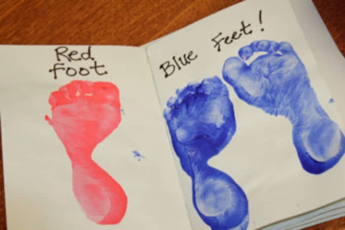 Make your own Foot Book! by Mom Endeavors