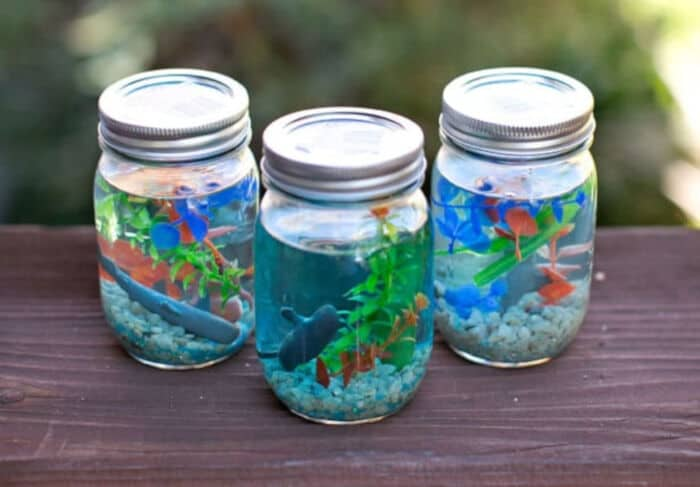 Mason Jar Aquarium by Hello Wonderful