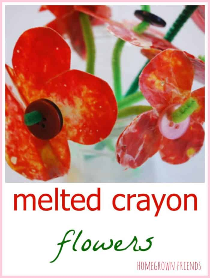Melted Crayon Flowers by Homegrown Friends
