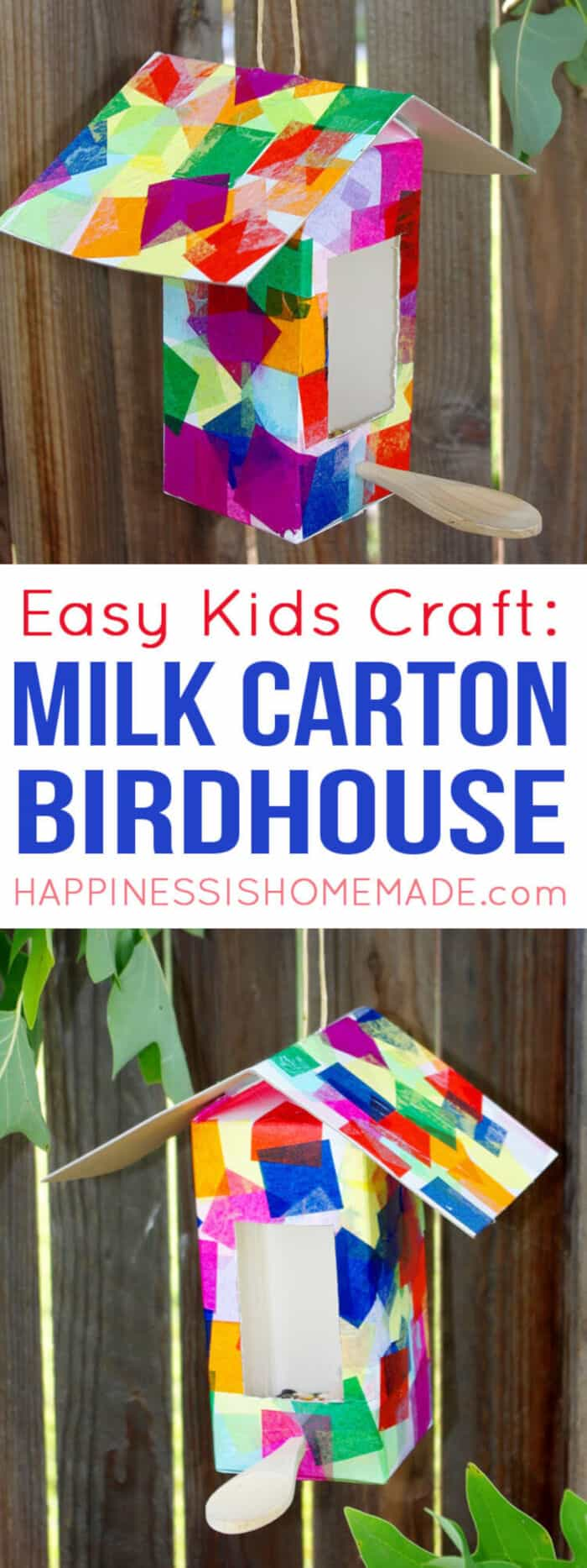 Milk Carton Birdhouse by Happiness Is Homemade