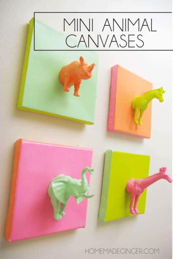Mini Animal Canvases by Mod Podge Rocks