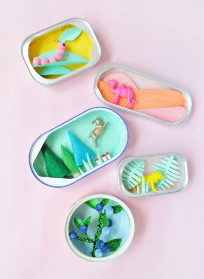 Mini Sardine Can Dioramas by Handmade Charlotte