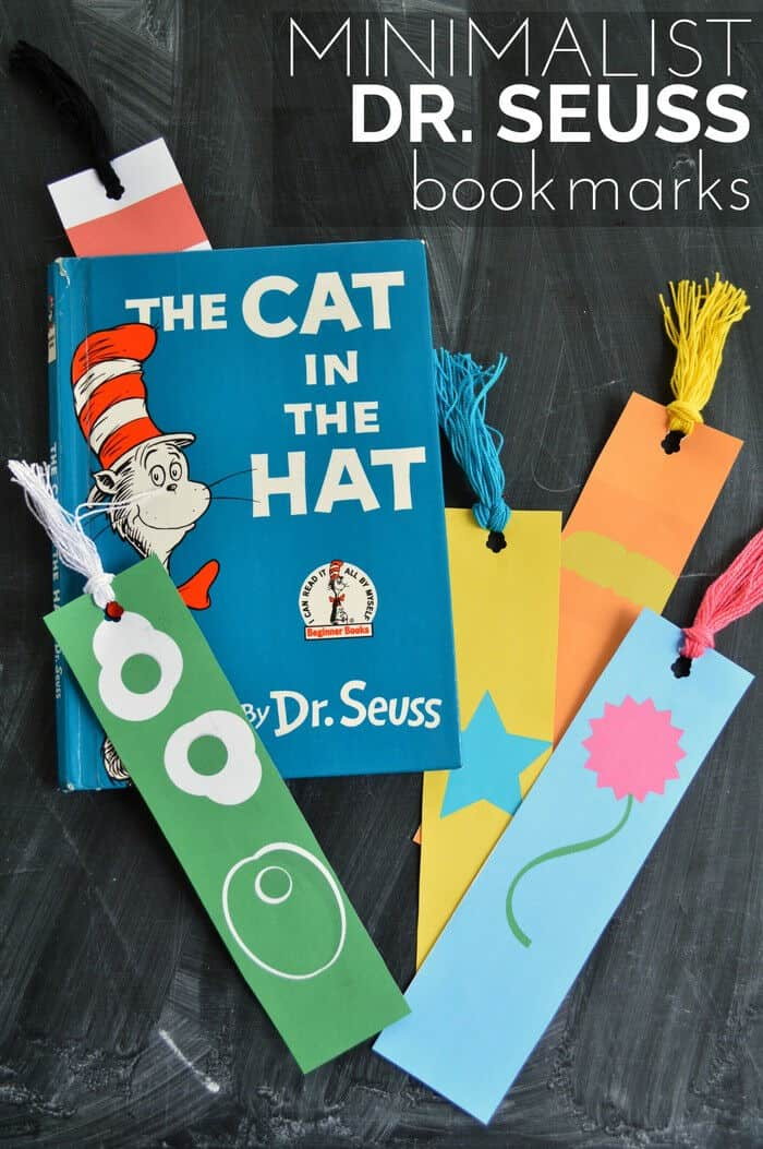 Minimalist Dr. Seuss Bookmark Printables by Mad In Crafts