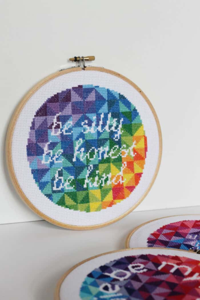 Modern Text Cross Stitch Pattern by Imagine Gnats