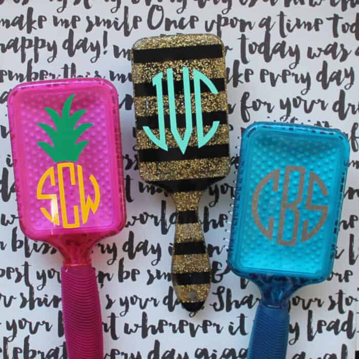 Monogrammed Hairbrush by The Craft Patch