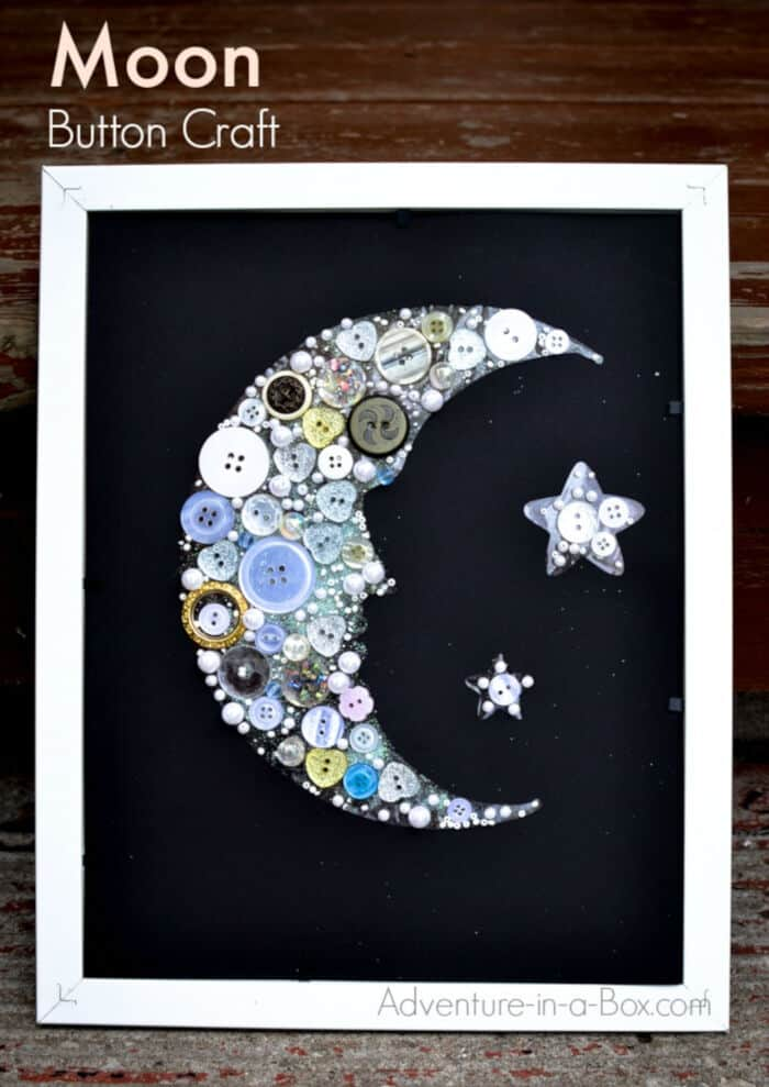 Moon Button Craft by Adventure In A Box