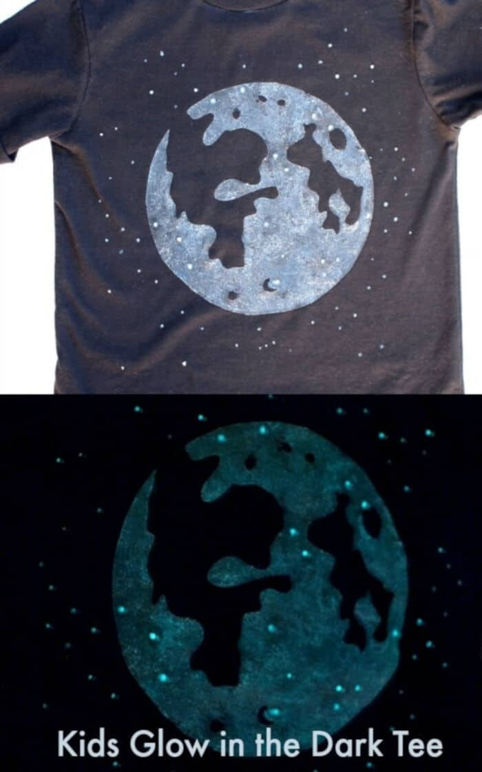 Moon Glow in the Dark T-Shirt by DIY Candy
