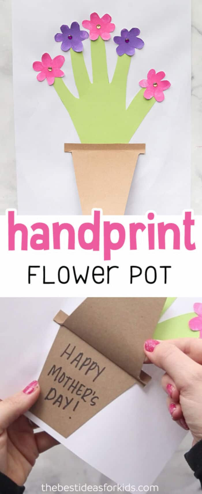 Mother's Day Handprint Flower Pot by The Best Ideas for Kids