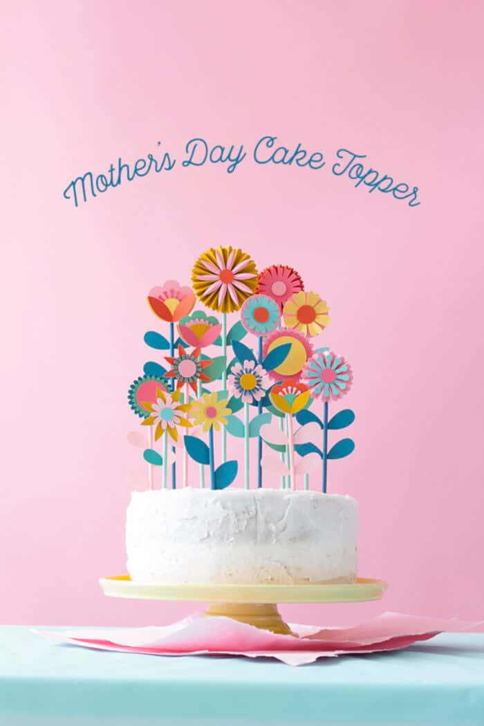 Mothers Day Floral Cake Topper by The House That Lars Built