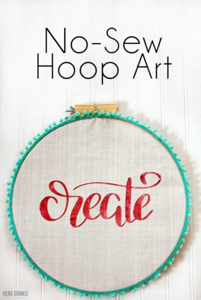 No-Sew Hoop Art by Kelly Leigh Creates