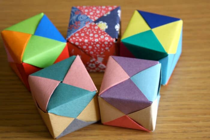 Origami Cube tutorial by Origami Mommy