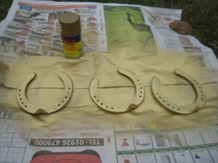 Painted Horseshoes by Felt Magnet