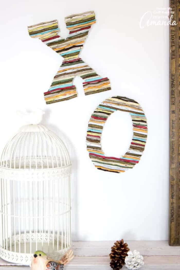 Painted Twig Wall Letters by Crafts by Amanda