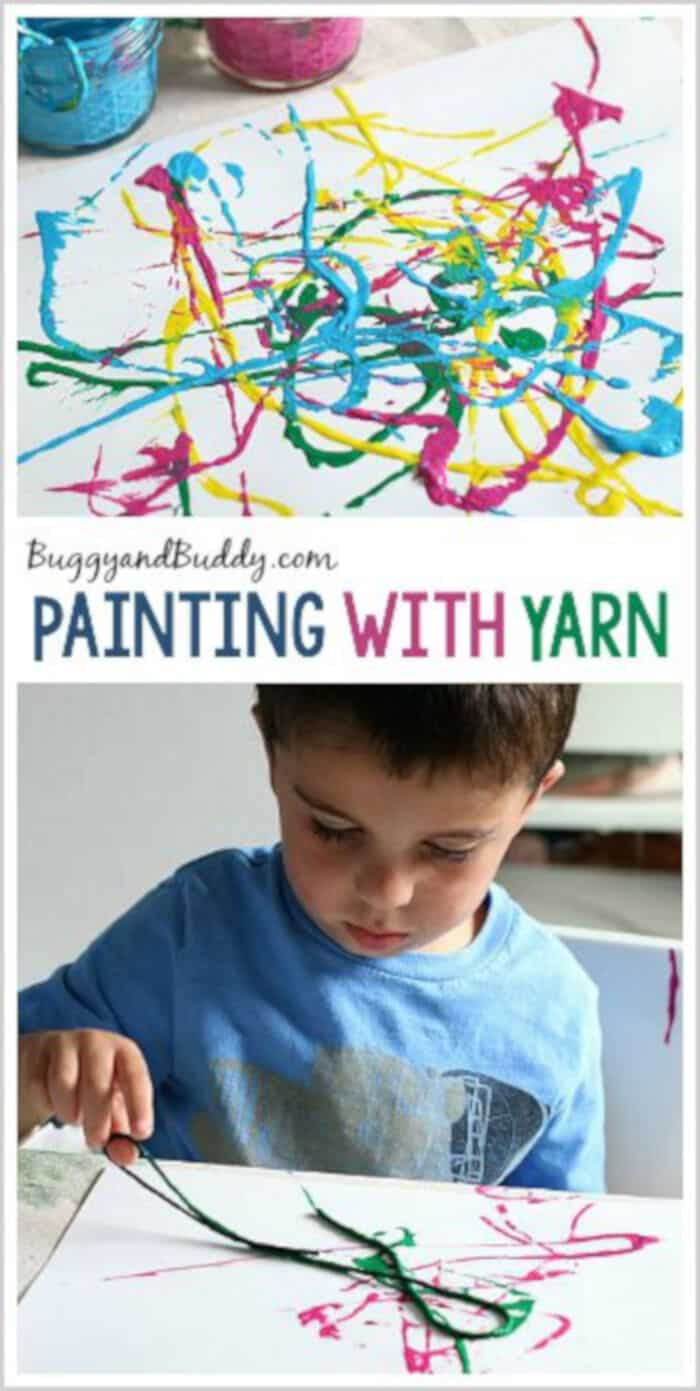 Painting with Yarn by Buggy and Buddy