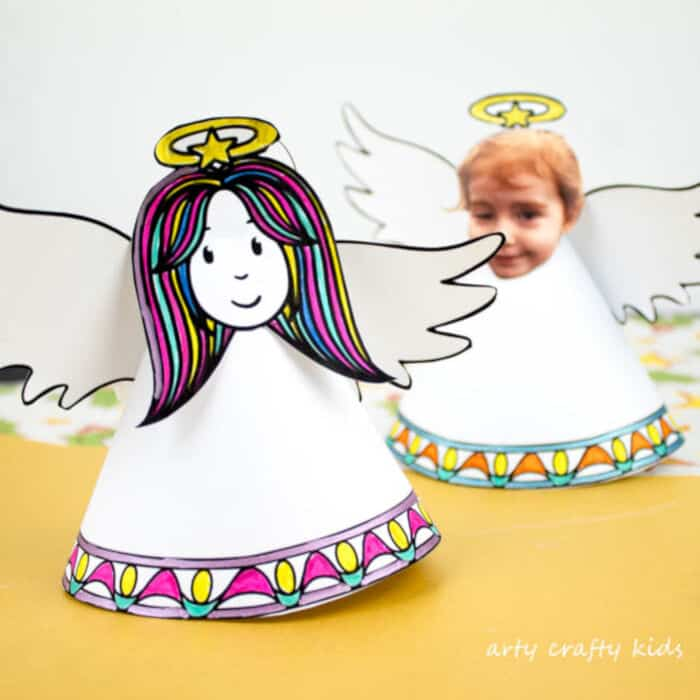 Paper Angel Christmas Ornament by Arty Crafty Kids