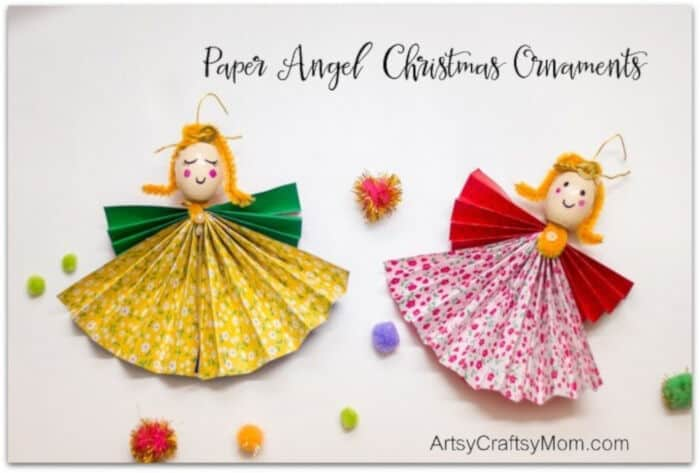 Paper Angel Christmas Ornaments by Artsy Craftsy Mom