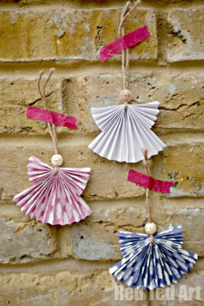 Paper Angel Ornament DIY by Red Ted Art