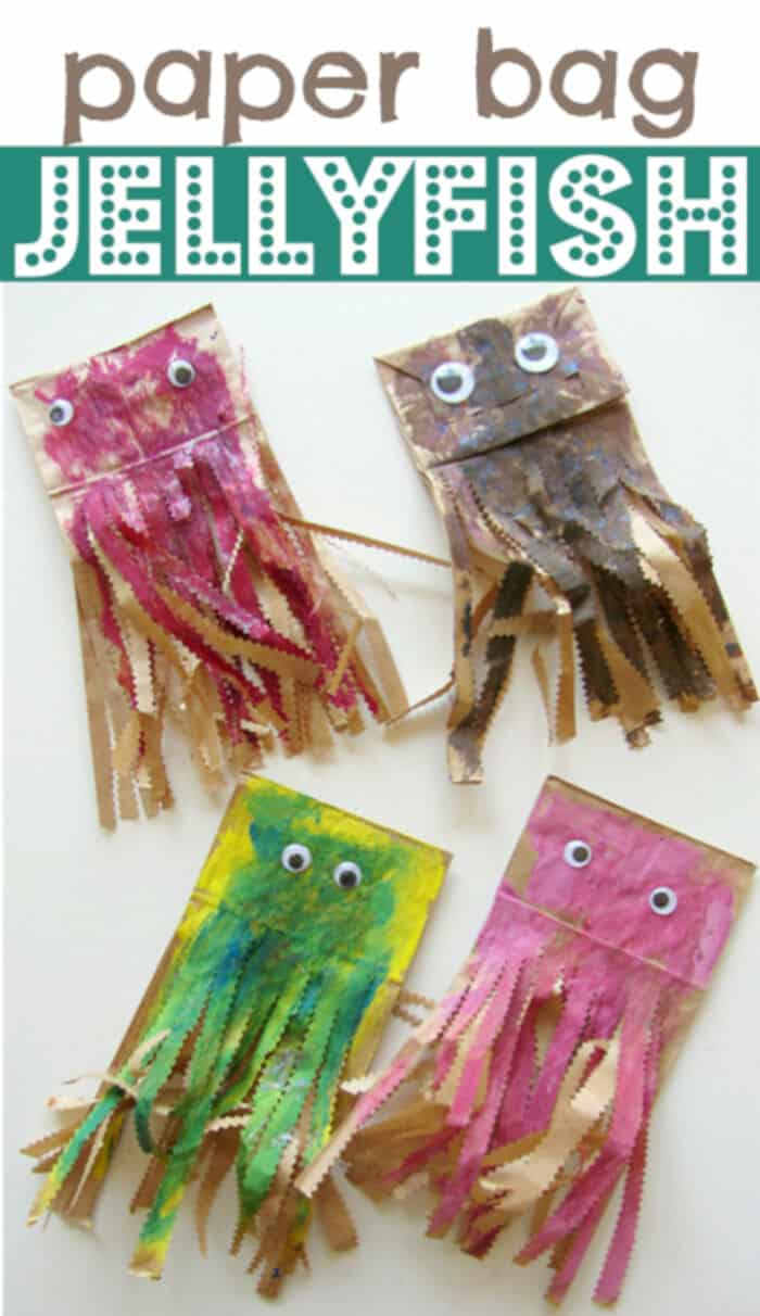 Paper Bag Jellyfish Craft by No Time For Flash Cards