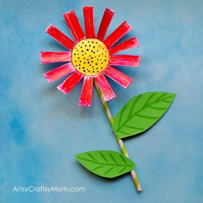 Paper Cup Flower Craft by Artsy Craftsy Mom