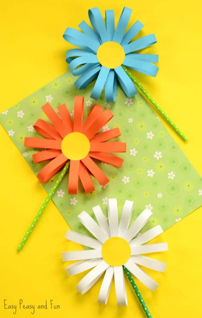 Paper Flower Craft by Easy Peasy and Fun