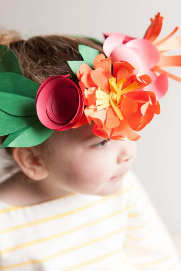 Paper Flower Crowns by Kids Stuff World