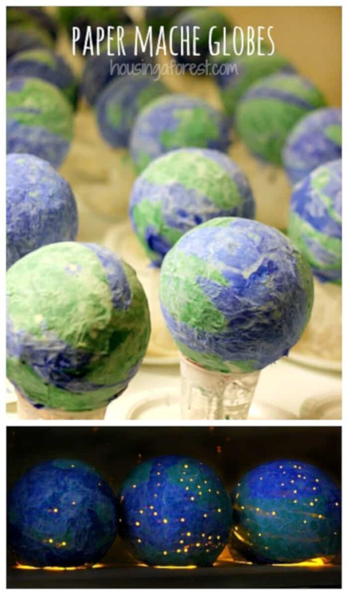 Paper Mache Globes by Housing A Forest