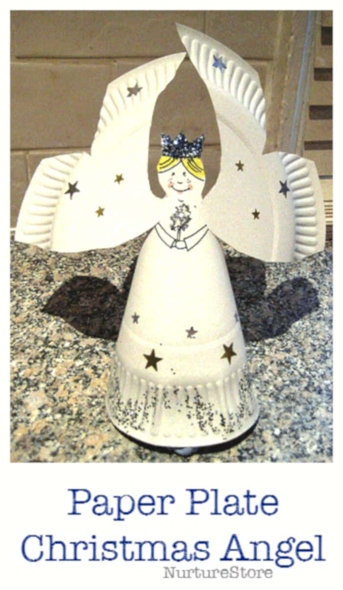 Paper Plate Christmas Angel by NurtureStore
