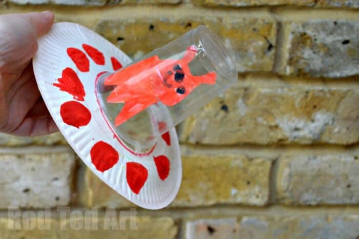 Paper Plate Flying Saucer Craft by Red Ted Art