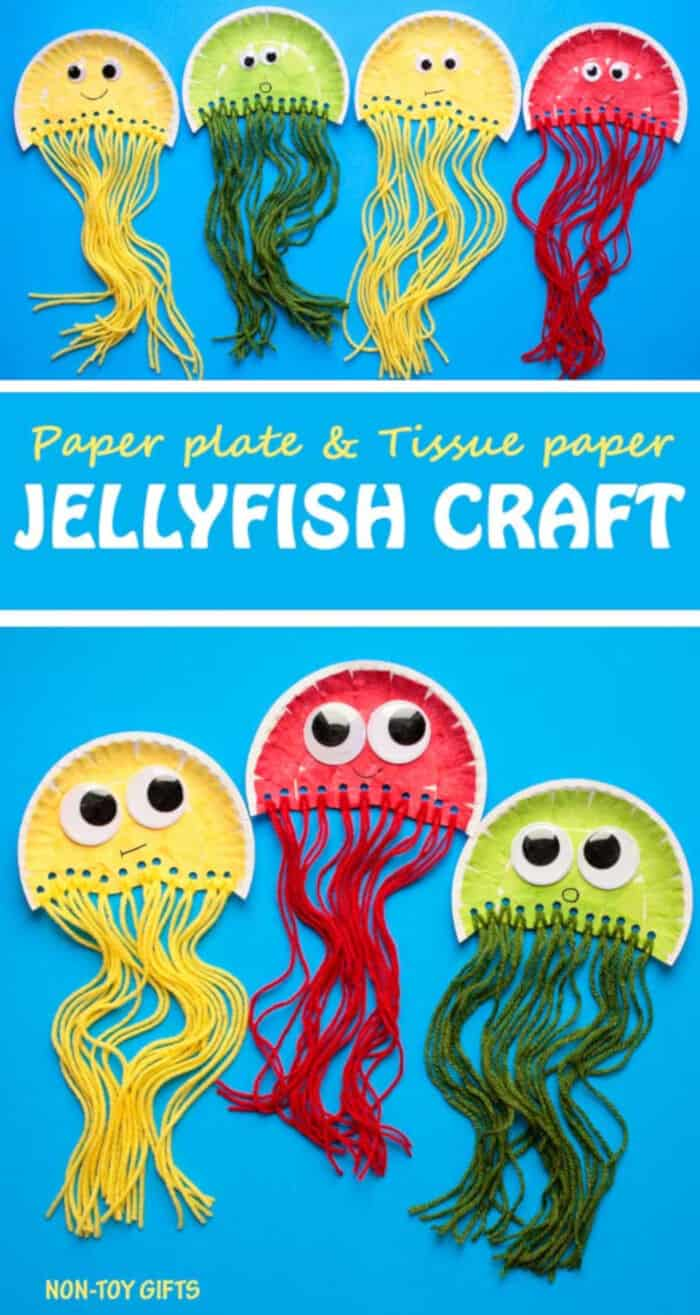 Paper Plate Jellyfish Craft by Non-Toy Gifts