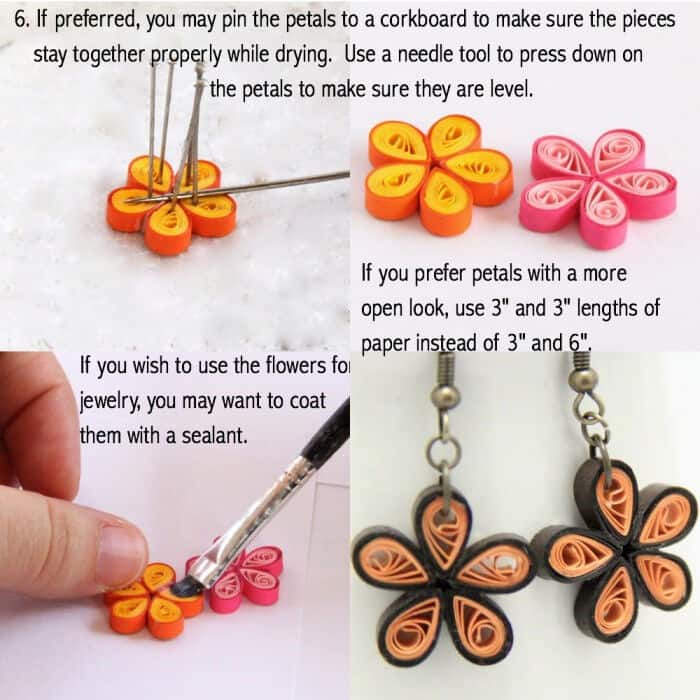 Paper Quilled Daisy Earring by Red Ted Art