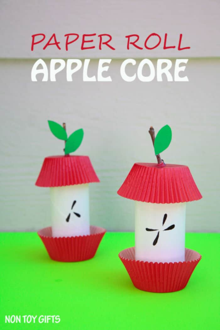 Paper Roll Apple Core by Non-Toy Gifts