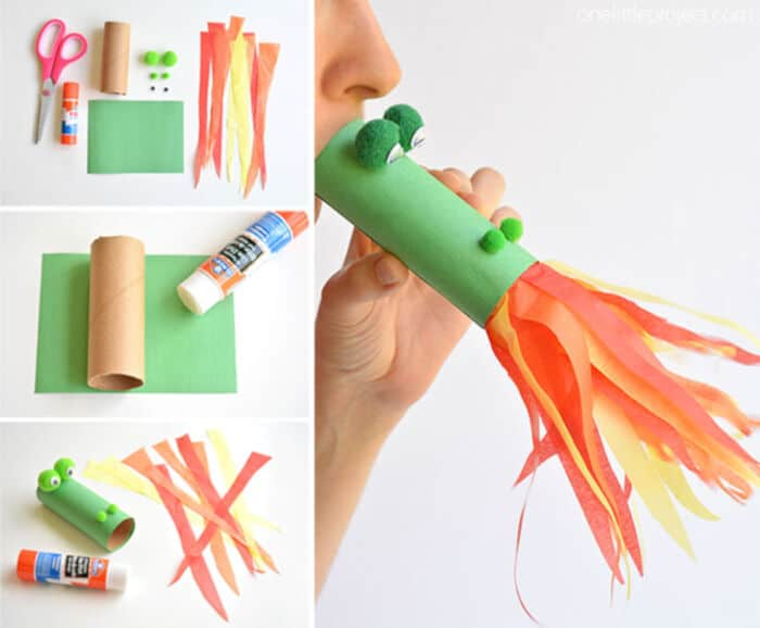Paper Roll Dragon Craft by One Little Project