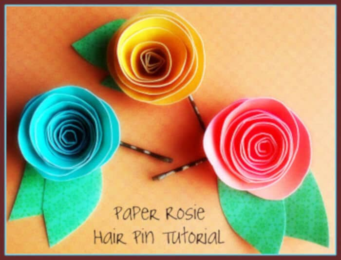 Paper Rosie Hair Pin Tutorial by Poppy Chic Designs