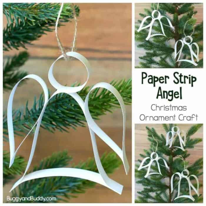 Paper Strip Angel Ornament Christmas Craft by Buggy and Buddy