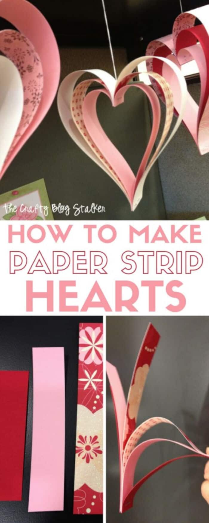 Paper Strip Hearts by The Crafty Blog Stalker