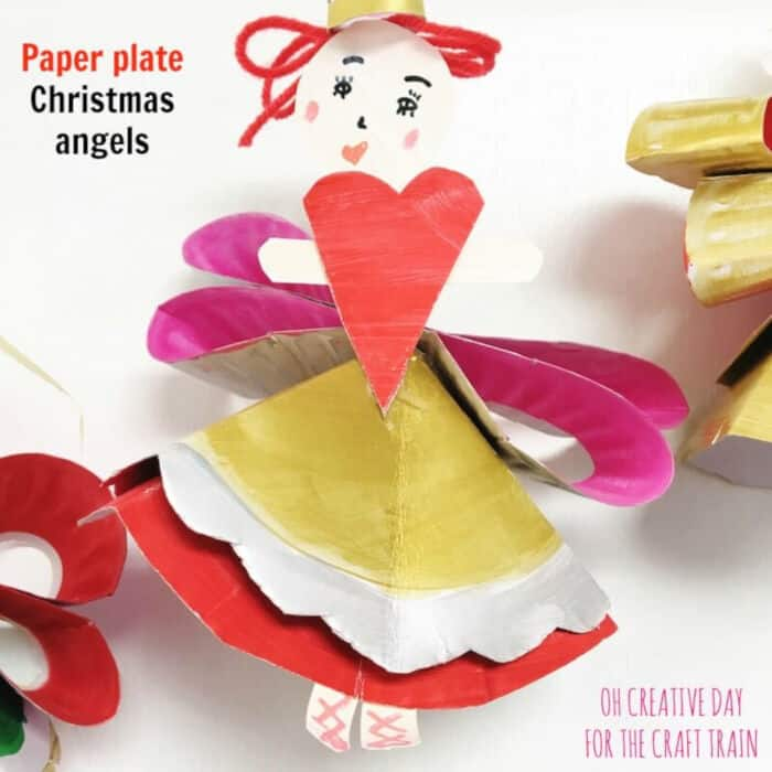 Paper plate Christmas Angels by The Craft Train