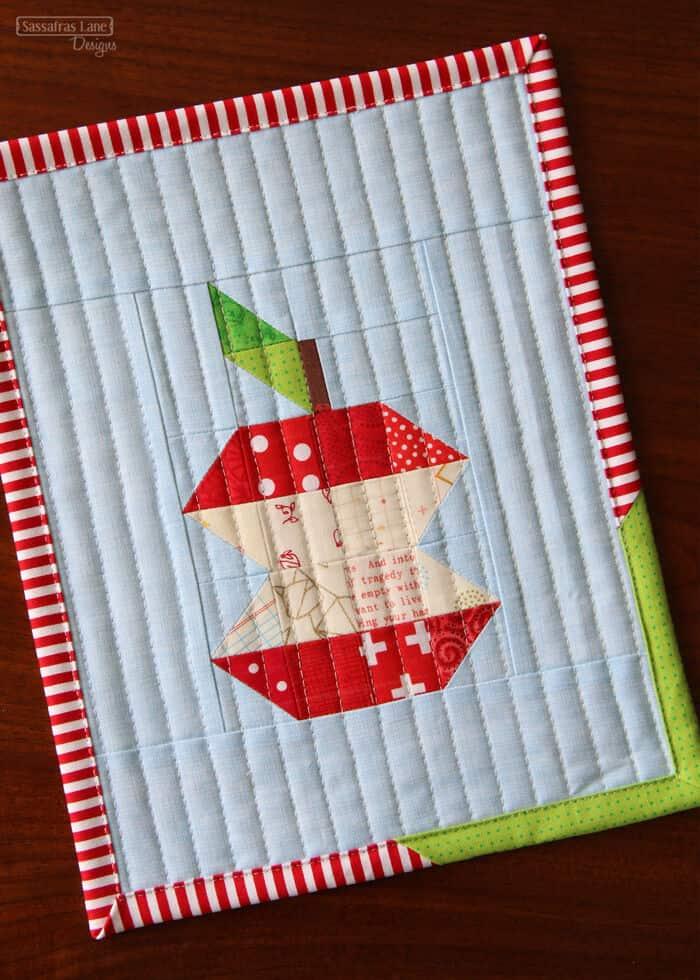 Patchwork Apple Mini Quilt Pattern by Sassafras Lane Designs